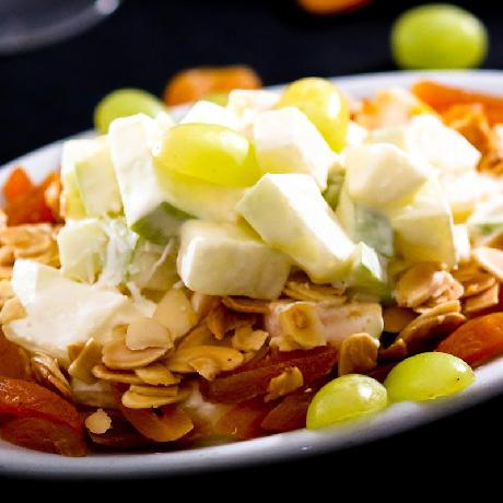 Honeydew melon salad with almonds